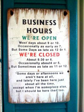 We are open. We are closed
