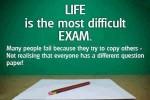 Life's exam